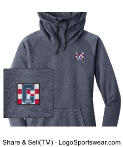 Ladies Hoodie Navy Heather Class of 94 Logo Design Zoom