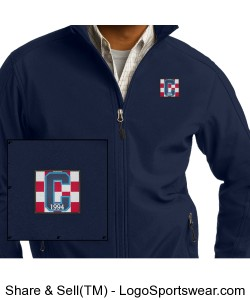 Class of 94 Logo Soft Shell Jacket Navy Design Zoom