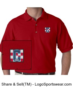 Class of 94 Logo Polo Red Design Zoom