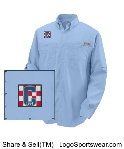 Columbia LS Class of 94 Logo Fishing Shirt Blue Design Zoom