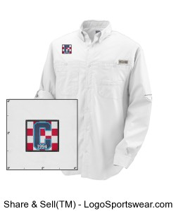 Columbia LS Class of 94 Logo Fishing Shirt White Design Zoom