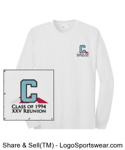 Adult Long Sleeve All-American Tee Design Zoom