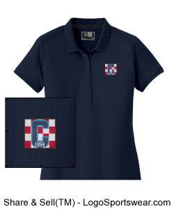 Ladies Navy Polo wth Class of 94 Logo Design Zoom